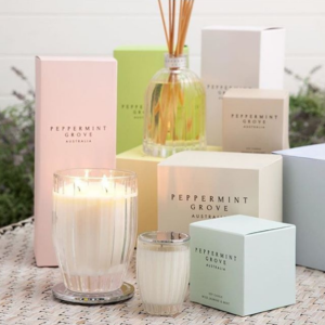 peppermint grove candle small burnt fig