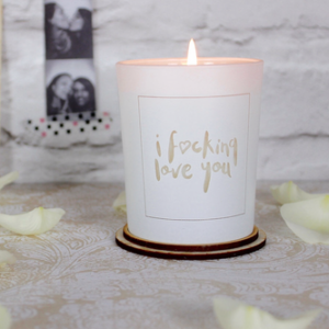 love you candle