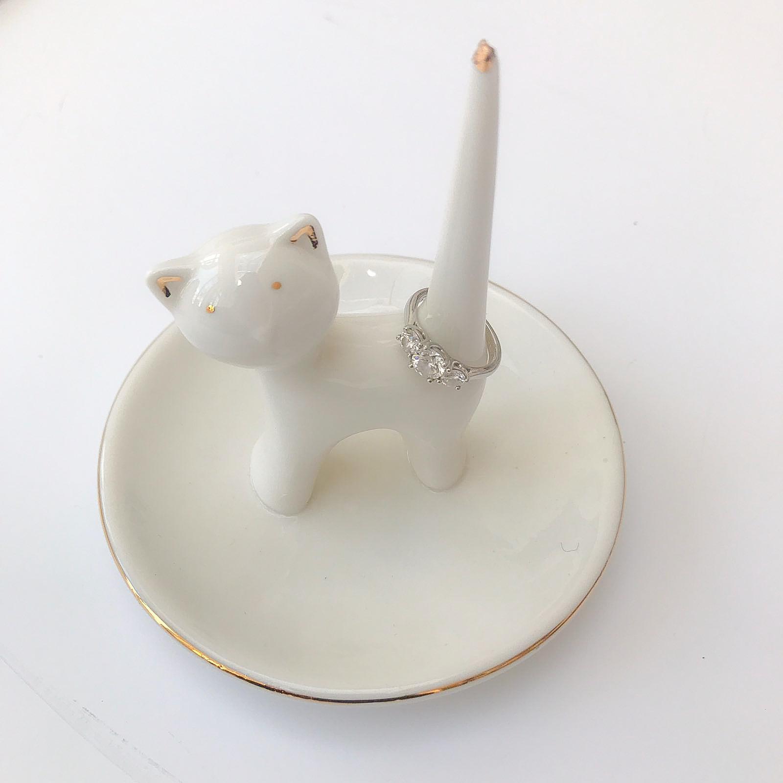 cat ring holder  evie loves toast - cat ring holder