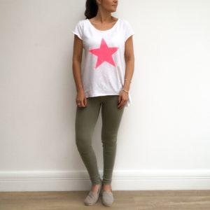 White star tee