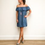 Denim Bardot Dress