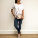 Bow Sleeve White Bardot Top