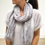 Silver Grey Star Scarf