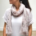 Blush Pink Star Scarf