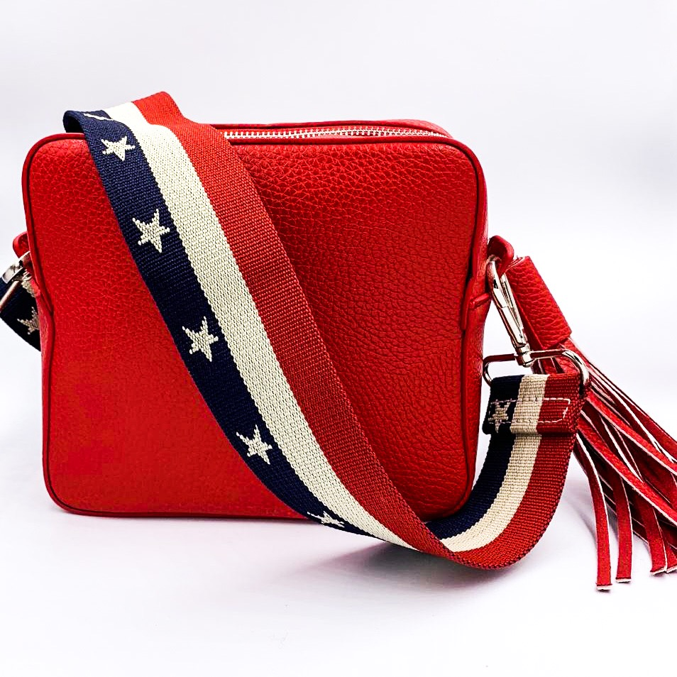 c200d65fd4 Red Cross body Bag with Star Strap - Evie Loves Toast