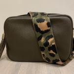Khaki cross body bag