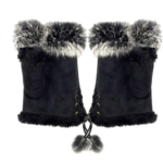 Faux Fur Fingerless Gloves